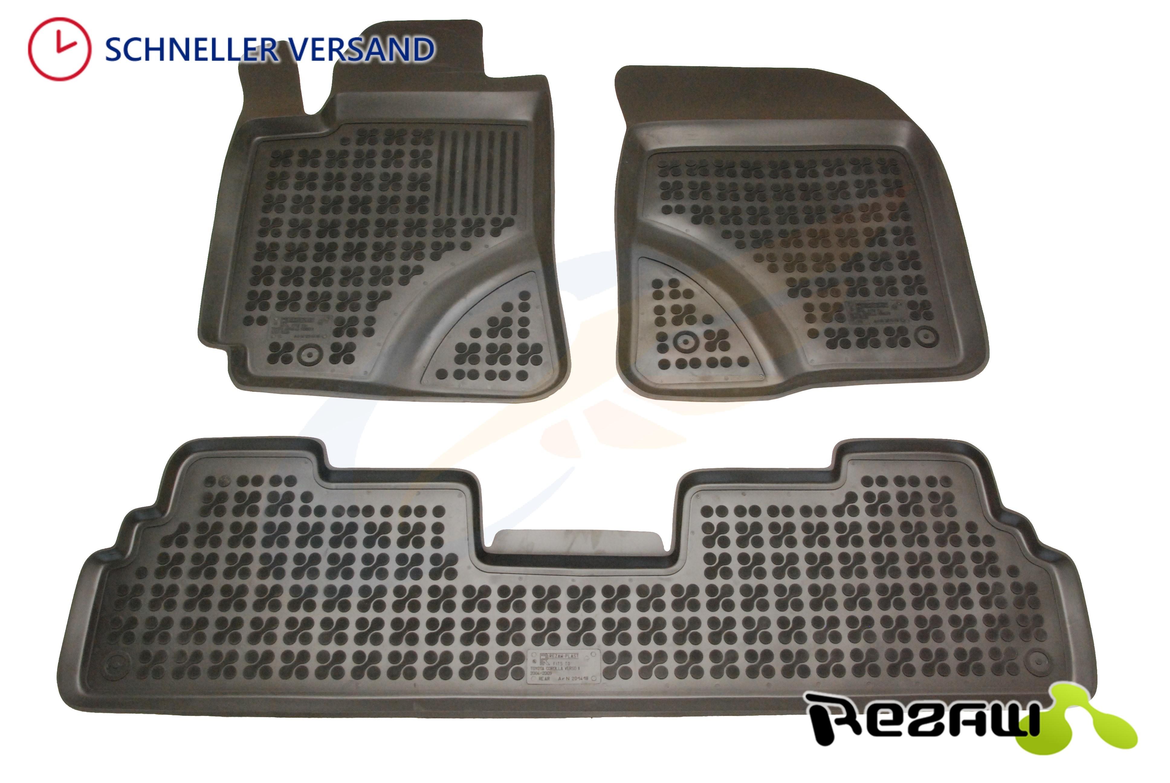 3D Gummi-Fußmatten für Toyota Verso ab 4//2009 Hohe Gummimatten Automatten