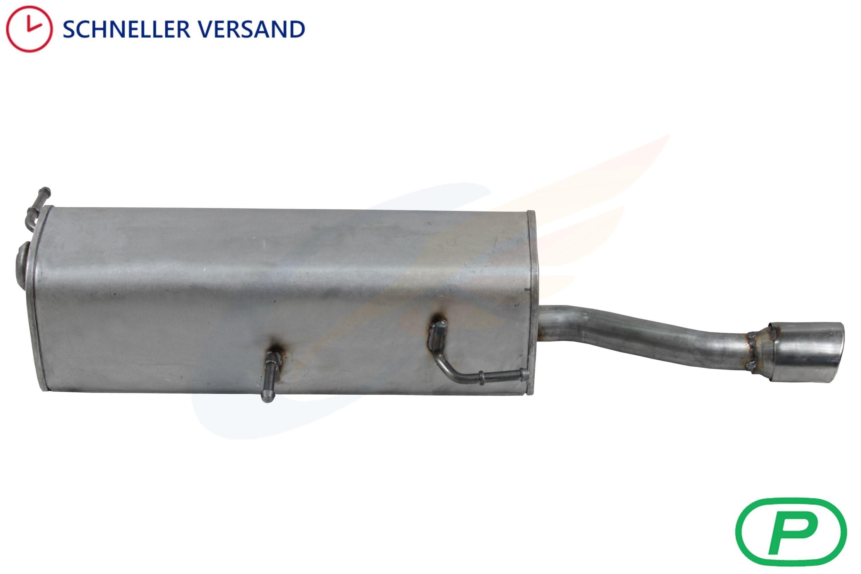 Peugeot 307 CC 2.0 Endschalldämpfer Auspuff Endtopf Nachschalldämpfer